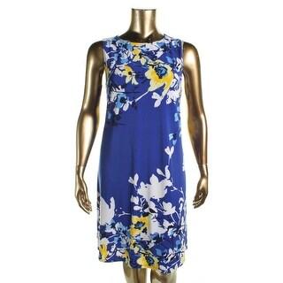Lauren Ralph Lauren Womens Plus Casual Dress Floral Print Sleeveless