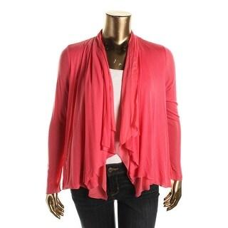 Elie Tahari Womens Modal/Silk Open Front Cardigan Sweater