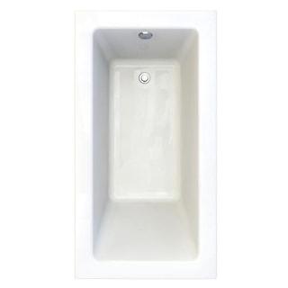 "American Standard 2932.002-D2 Studio 60"" Acrylic Soaking Bathtub with Reversible Drain - Lifetime Warranty"