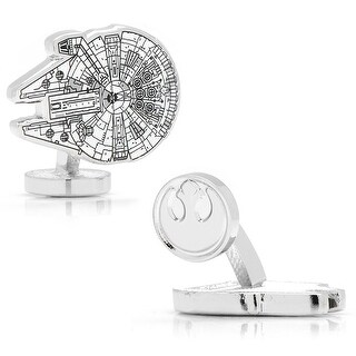 Star Wars Millennium Falcon Ship Blueprint Cufflinks