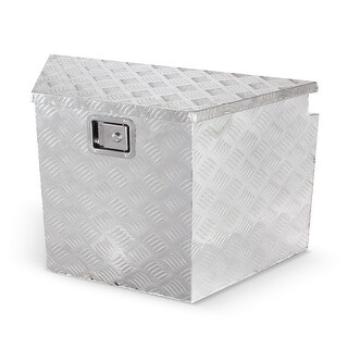 "ARKSEN 29"" Heavy Duty Aluminum Diamond Plate Underbed Storage Trailer Tongue Utility Tool Box"