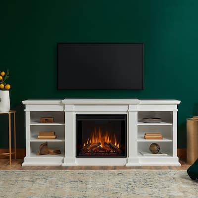 "Fresno White Media Electric Fireplace - 71.73 ' L x 18.98"" W x 29.88"" H"