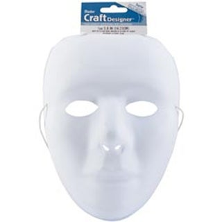 "White - Pvc Mask Full Face 9.75"" 1/Pkg"