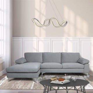 Link to Sectional Sofa Light Hand Facing  with Velvet Cushion and Chaise Lounge Similar Items in Living Room Furniture