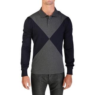 Moncler Men's Gamme Bleu Long Sleeve Polo Shirt Navy