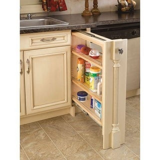 "Rev-A-Shelf 432-BF-6C 432 Series 6"" Base Filler Pull Out Organizer with Adjustable Shelves"