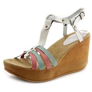 Coolway Galilea Open Toe Leather Wedge Heel