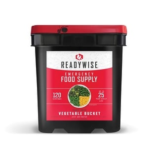 ReadyWise 120 Serving Freeze Dried Vegetable Bucket - 11x10x15