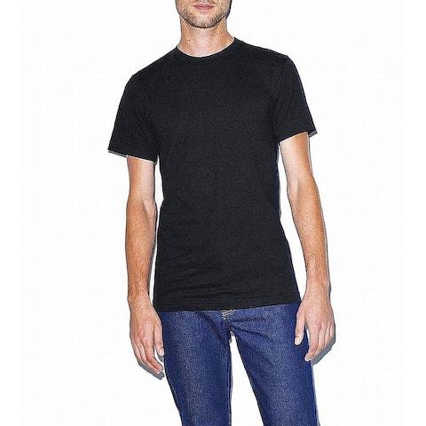 American Apparel Mens T-Shirt Black Size Small S Crewneck Short Sleeve