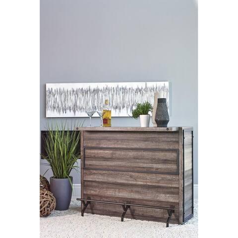 Garrison Aged Oak Five-Shelf Bar Unit