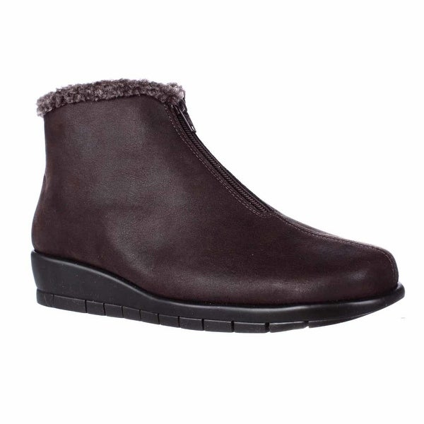 Aerosoles Nonchalant Low-Heel Wedge Ankle Boots - Brown