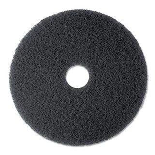 3M High Productivity Floor Pad 7300 13 in. Black 5 Pads-Carton