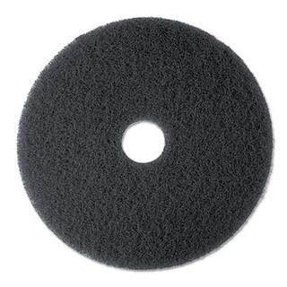 3M High Productivity Floor Pad 7300 17 in. Black 5 Pads-Carton
