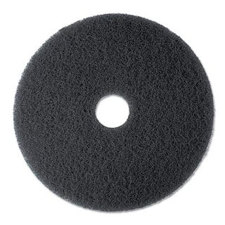 3M Stripper Floor Pad 7200, 13 in., Black, 5 Pads-Carton