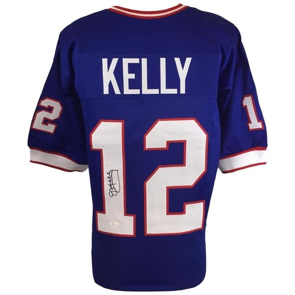 online store a990a c600c Shop Bills QB Jim Kelly Signed Custom Blue Pro-Style ...