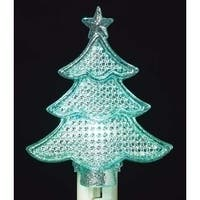 Christmas Tree with Star Silhouette Multi-Color LED Night Light 6.25""