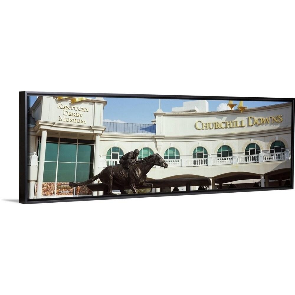 Facade Of The Kentucky Derby Museum Churchill Downs Louisville Black Float Frame Canvas Art