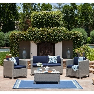 Link to Puerta Outdoor 4-piece Sofa Set by Christopher Knight Home Similar Items in Patio Sets