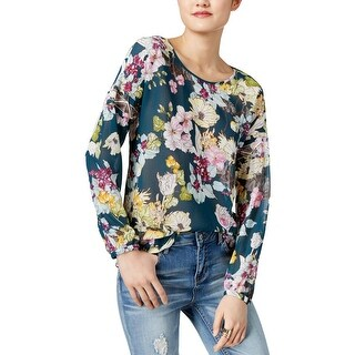 Guess Womens Blouse Crepe Floral Print