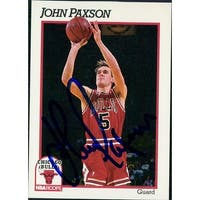 Signed Paxson John Chicago Bulls 1991 NBA Hoops Basketball Card autographed