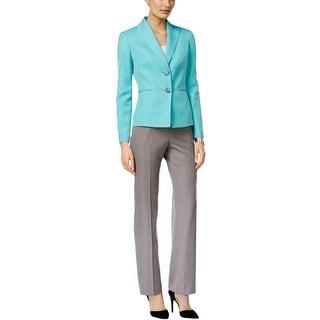 Le Suit Womens Windsor Pant Suit Twill Peak Lapel