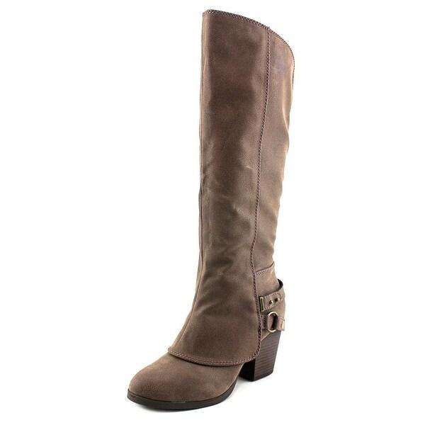 American Rag Eboni Round Toe Leather Knee High Boot