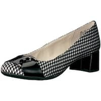Anne Klein Womens HASTOBE Leather Closed Toe Classic Pumps