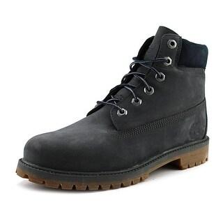 """Timberland Junior 6"""" Premium Waterproof Youth Round Toe Leather Gray Work Boot"""