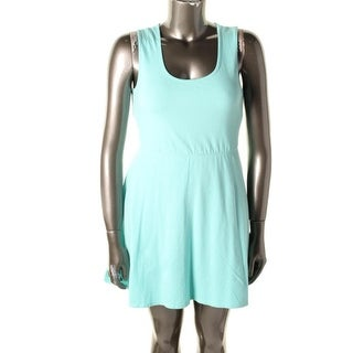 Rebellious One Womens Juniors Casual Dress Heart Cut-Out Sleeveless