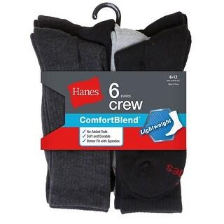 Hanes Men's Comfortblend Lightweight Casual Dress Socks P6 - Color - Black/Grey Assortment - Size - 10-13