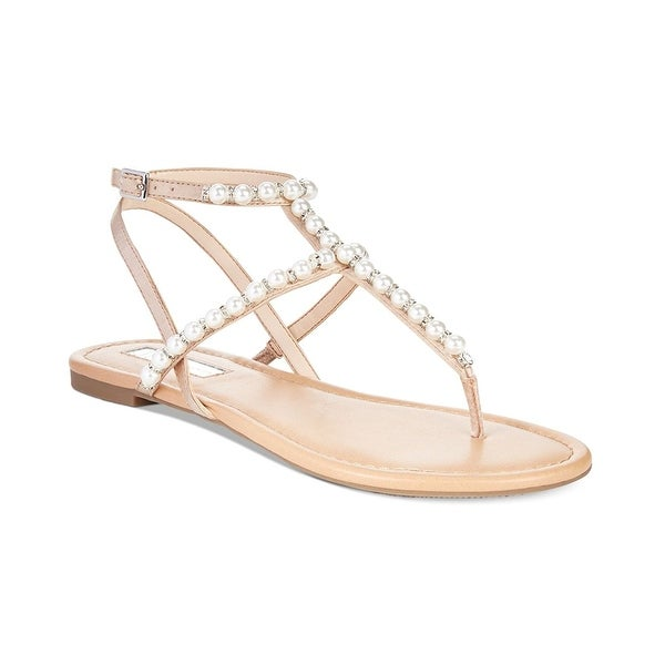 INC International Concepts Womens Madigane Fabric Open Toe Casual T-Strap San...
