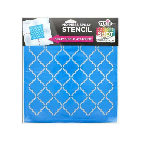 36645 tulip color shot stencil 10x10 lattice