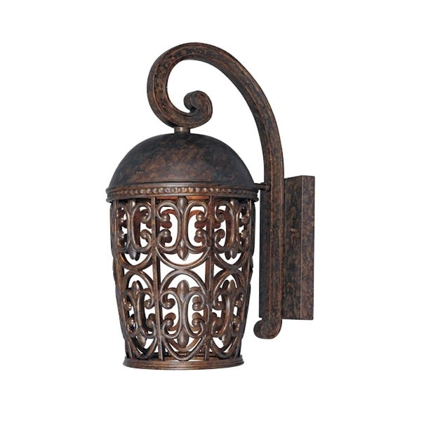 Designers Fountain 97592 1-Light Down Lighting Outdoor Wall Lantern from the Dark Sky Amherst Collection - Burnt Umber - n/a