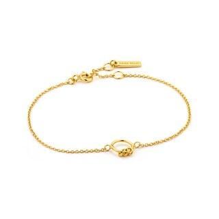 """Modern Circle Bracelet - Shiny Gold - 7.3"""""""
