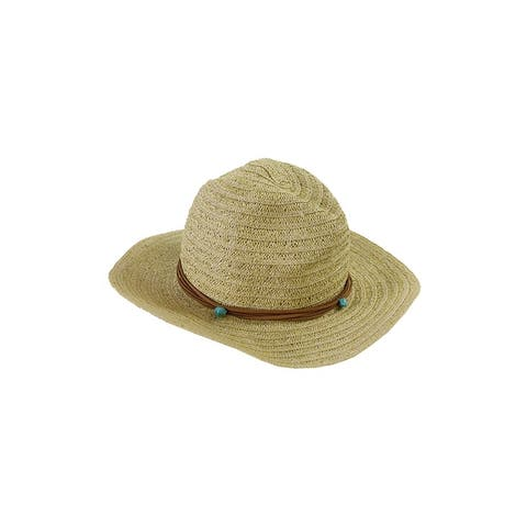 Collection Xiix Beige Sheer Braid Panama Hat OS