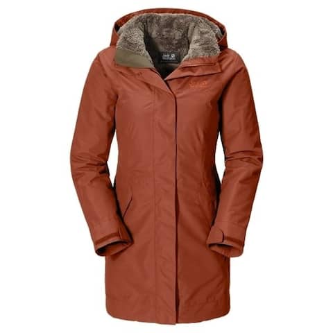 Jack Wolfskin 5th Avenue Coat Womens Waterproof Insulated Jacket Small - Orange - S