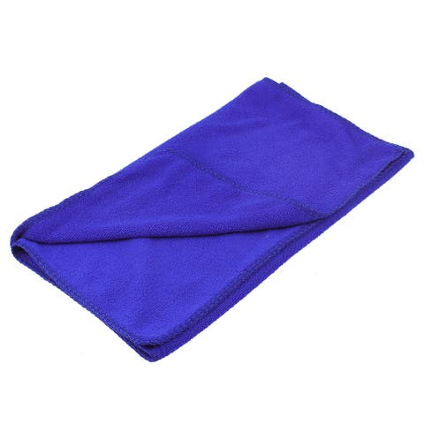 Blue Rectangle Shaped Pet Dog Poodle Washcloth Drying Grooming Towel