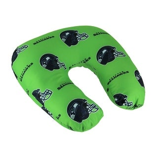NFL Seattle Seahawks Beaded Travel Neck Pillow - Lime