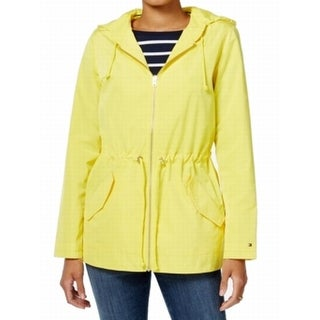 Tommy Hilfiger NEW Yellow Women's Size Small S Hooded Anorak Jacket