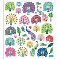 Peacock Splendor - Multicolored Stickers