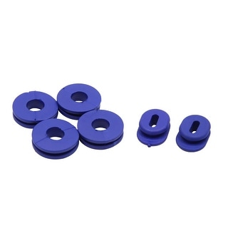 6pcs Blue Rubber Motorcycle Side Cover Grommets Replacement For Suzuki GS125