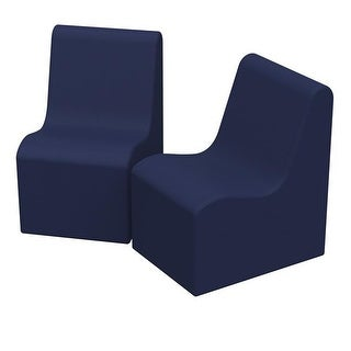 36 x 24 x 28 in. SoftZone Wave Youth Chair, Pack of 2 - Navy