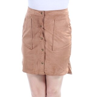 Womens Brown Above The Knee Pencil Skirt Size 2XS