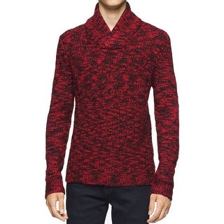 Calvin Klein NEW Red Mens Size Small S Shawl-Collar Turtleneck Sweater