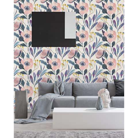 Vintage Floral Peel and Stick Wallpaper