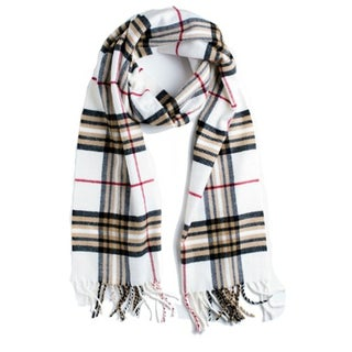 Super Soft Luxurious Classic Cashmere Feel Winter Scarf (Option: White)
