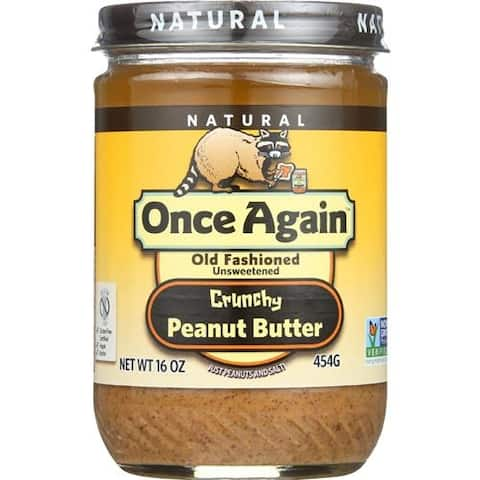 Once Again - Crunchy No Salt Peanut Butter ( 12 - 16 OZ)