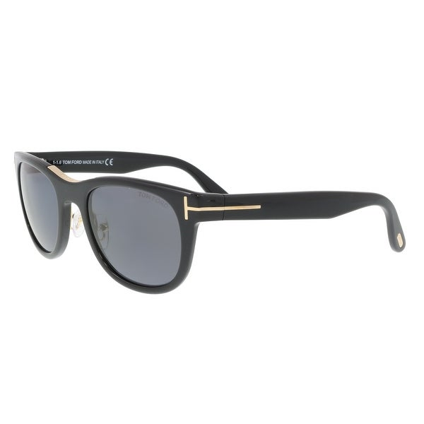 2adb6d085321 Shop Tom Ford FT0045 S 01D JACK Black Square Sunglasses - 51-20-135 ...