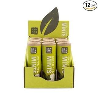 Sencha Naturals 639510C Original Green Tea Mints - Pack of 12
