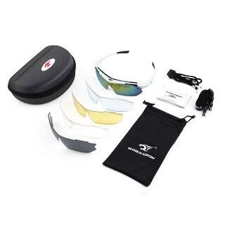 ROBESBON Authorized Temple Demountable Eyewear Frame Cycling Glasses White Set